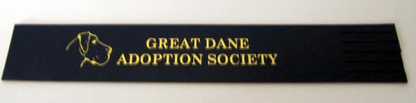 Great Dane Adoption Leather Bookmark