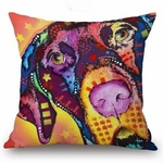 Multi Coloured Great Dane Cushion Cover