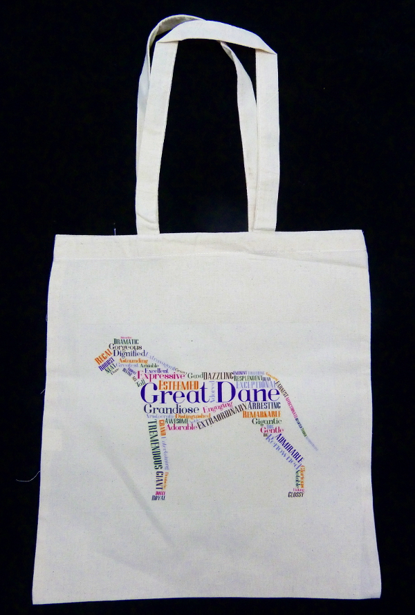 Great Dane 100% Cotton Tote Bag