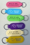 Leather Great Dane Adoption Keyring